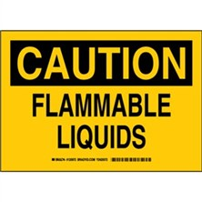 Caution - Flammable Liquids Signs