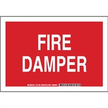 Fire Damper Signs