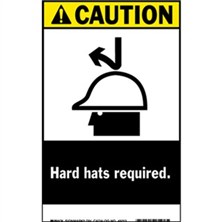 Ansi Caution, Hard Hats Required