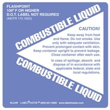 Combustible Liquid Labels