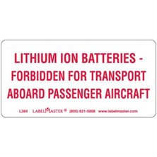 DOT Lithium Ion Battery Markings