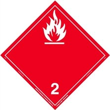 Flammable Gas Wordless Placards