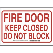 Fire Door Keep Closed Do Not Block Signs