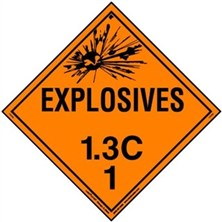Explosive 1.3 Placards