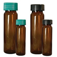 Amber Borosilicate Sample Vials with Caps