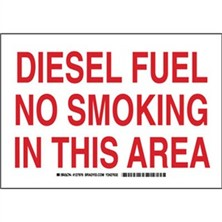 Diesel Fuel No Smoking In This Area Signs