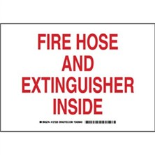 Fire Hose And Extinguisher Inside Signs