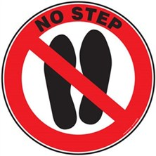 No Step Signs
