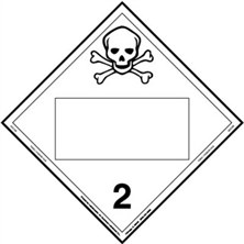 Toxic Gas Blank Placards