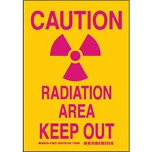 Caution Radiation Area Keep Out Signs