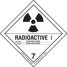 Personalized Shipping Name Radioactive I Labels