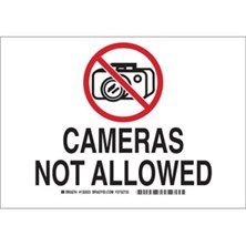 Cameras Not Allowed (With  Picto) Signs