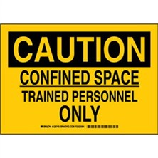 Caution - Confined Space Trained Personnel Only Signs