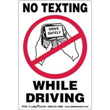 No Texting While Driving Labels