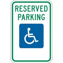 Reserved Parking (With Handicap Symbol)