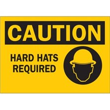 Caution, Hard Hats Required (With Picto)