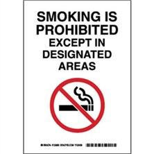 Smoking Is Prohibited Except In Designated Areas Signs