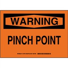 Warning - Pinch Point Signs