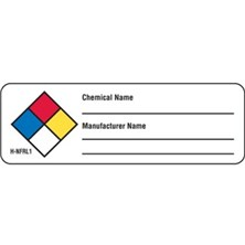 NFPA® Write-On Chemical Name Labels