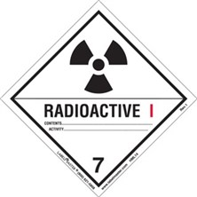 Worded Radioactive I Labels