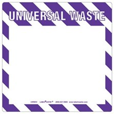 Universal Waste Labels Blank, Full Open Box