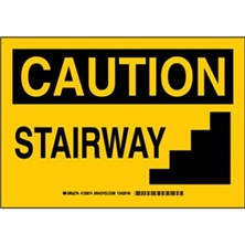 Caution - Stairway Signs