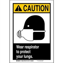 Caution - Wear Respirator To Protect Your Lungs Signs