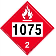 UN 1075 Flammable Gas Placard