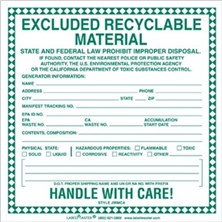 Excluded Recyclable Material Labels