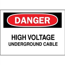 Danger, High Voltage Underground Cable