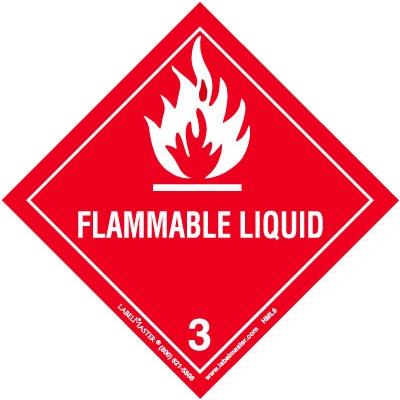 Flammable Liquid Hazmat Label