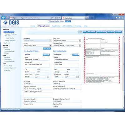 Lithium Battery Shipping Software