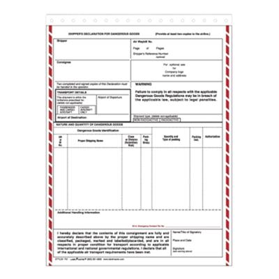 Personalized Dangerous Goods Shipping Forms from Labelmaster