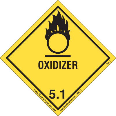 Oxidizer Label