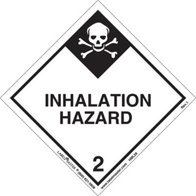 DOT Hazard Class 2, Inhalation Hazard Label