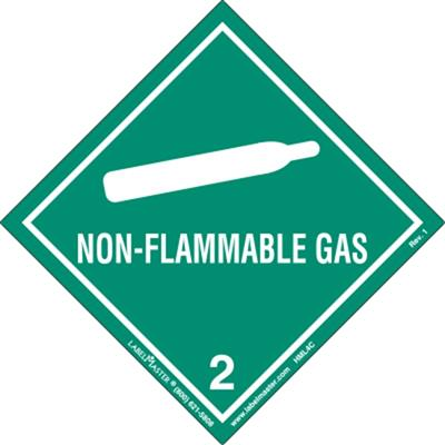 DOT Hazard Class 2, Non-Flammable Gas Label