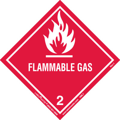 Flammable Gas Label