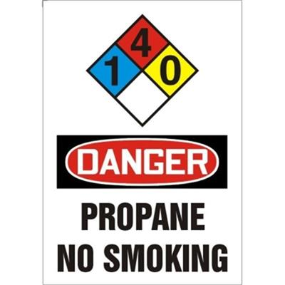 Danger Propane Gas No Smoking
