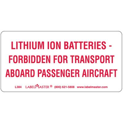 DOT Lithium Ion Battery Marks