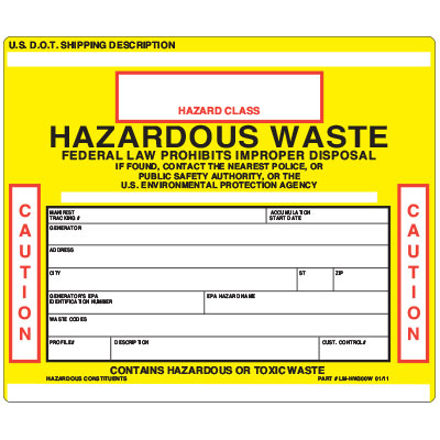 Hazwaste Labels