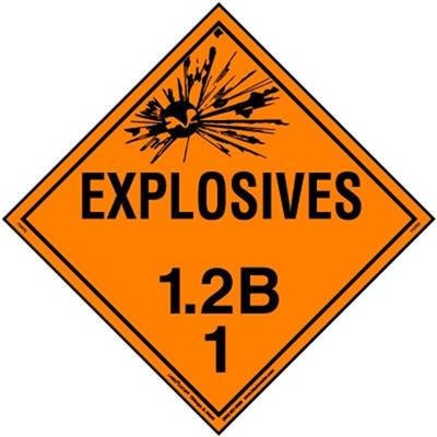Explosive 1.2 Placards
