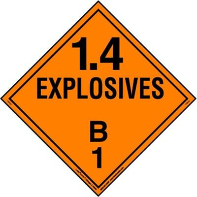 Explosive 1.4 Placards