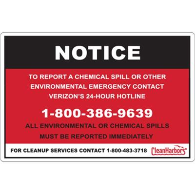 Emergency Spill Labels and Markings