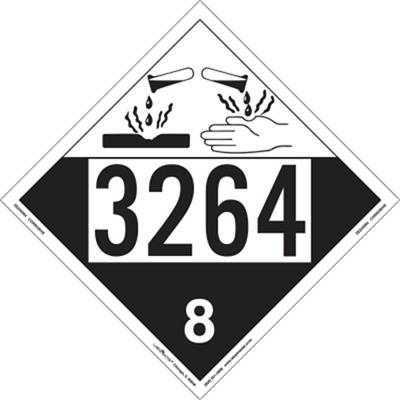 Corrosive 4 Digit Placards