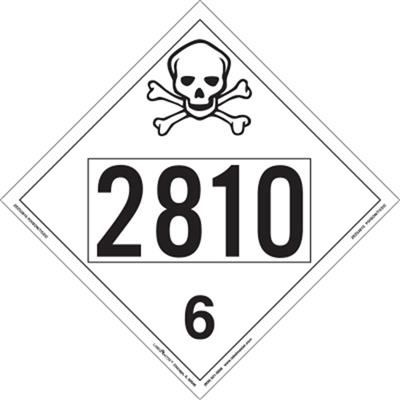 Poison Inhalation Hazard 4 Digit Placards