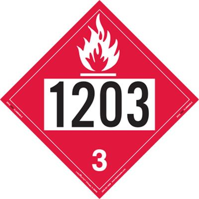Flammable Liquid 4 Digit Placards