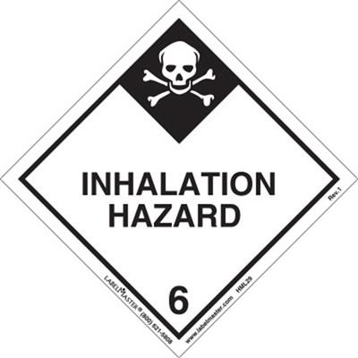 DOT Hazard Class 6, Inhalation Hazard Label