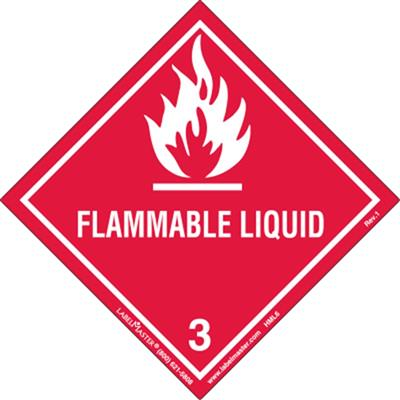 DOT Hazard Class 2, Flammable Liquid Label