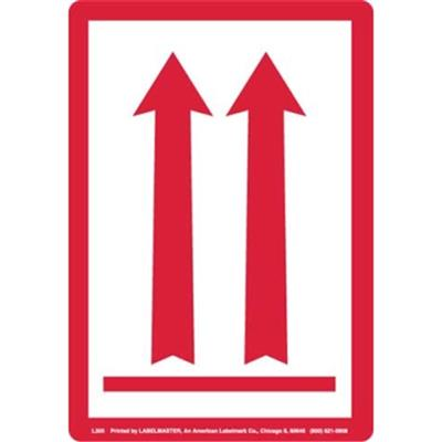 Red Arrow Up Label