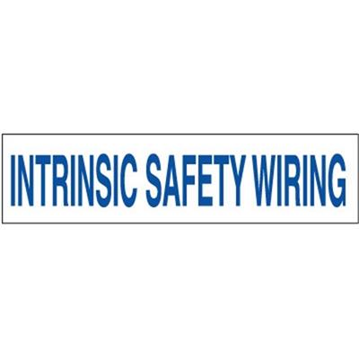 Electrical Labels, Intrinsic Safety Wiring, 2.25